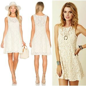 REVOLVE Free People Miles of Lace Dress XS